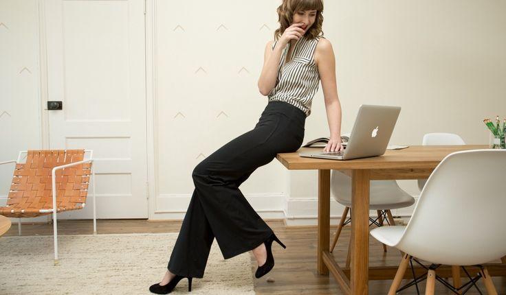 Betabrand Palazzo Dress Pant Yoga Pants