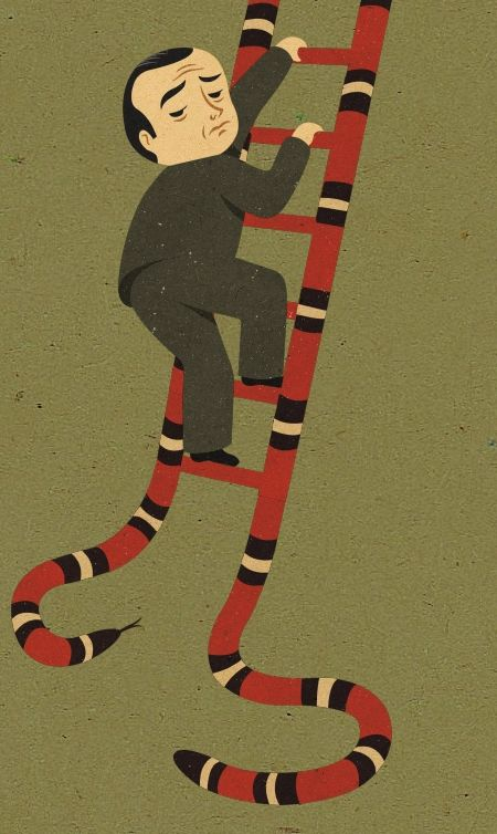 14. Snakes Are Ladders  If there is no snake, is it still a must to climb the ladder?