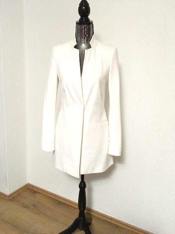 66e87bf969de4c Weißer langer Blazer von Zara in Gr. XS | Kleiderkreisel | Blazer ...