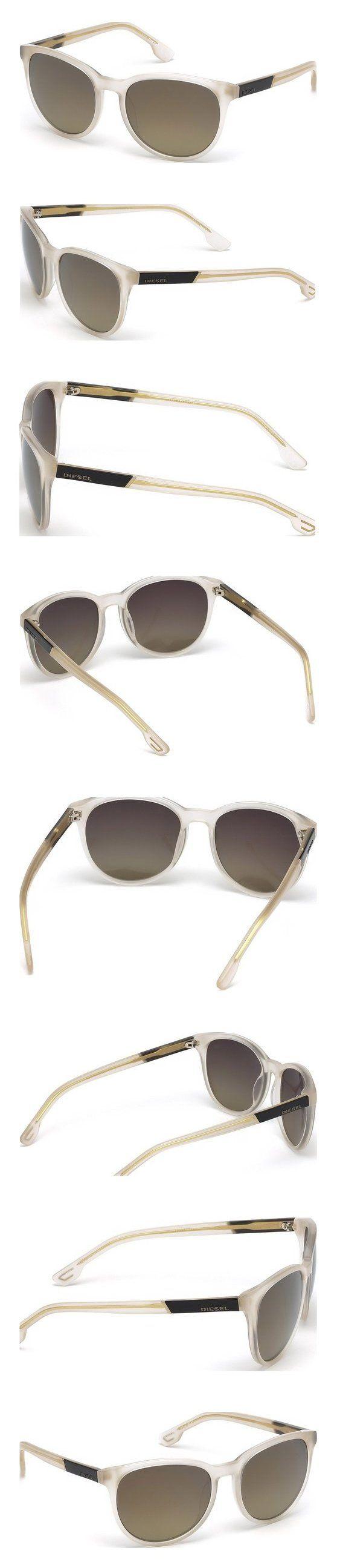 $135 - DIESEL Sunglasses DL0123 21G White / Brown Mirror 54MM #sunglasses #