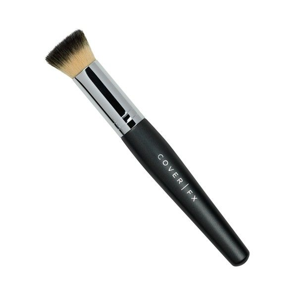 Liquid Foundation Brush - A short, round, flat-topped brush ideal for the effortless application and seamless blending of liquid foundation formulas.