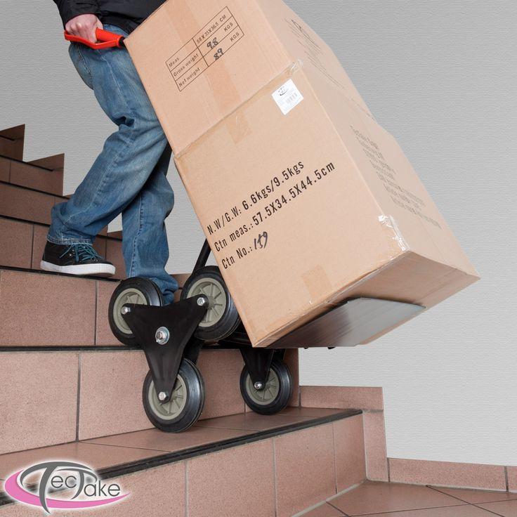 Avec ce diable vous ne soulagez pas seulement votre dos, mais aussi votre porte-monnaie ! Grâce aux roues disposées en forme d'étoile vous transportez facilement des charges lourdes même sur escaliers et marches. Idéal pour toutes sortes de livraisons, déménagements et manutentions. Facile à utiliser et à ranger. Le chariot est constitué d'un cadre en tube d'acier solide, les poignées de sécurité sont réalisées en plastique résistant.
