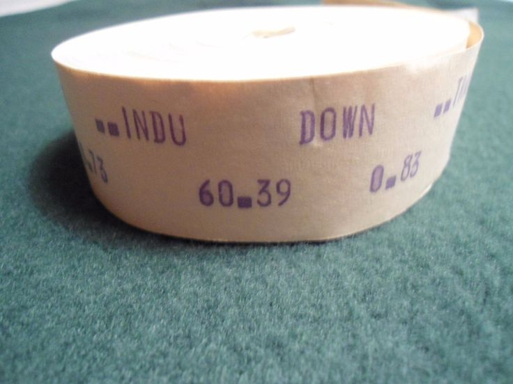 Vintage Roll Of Stock Ticker Tape With Quotes - 1973