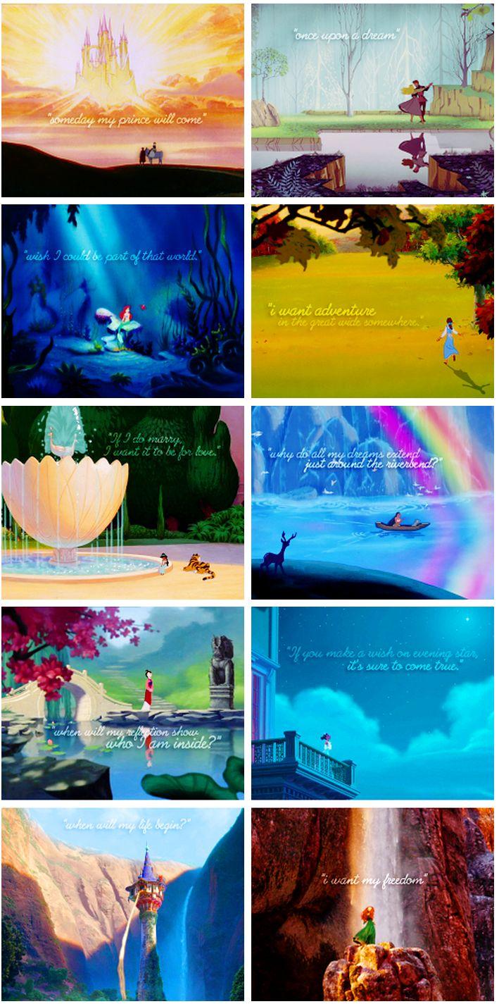Disney princesses + dreams
