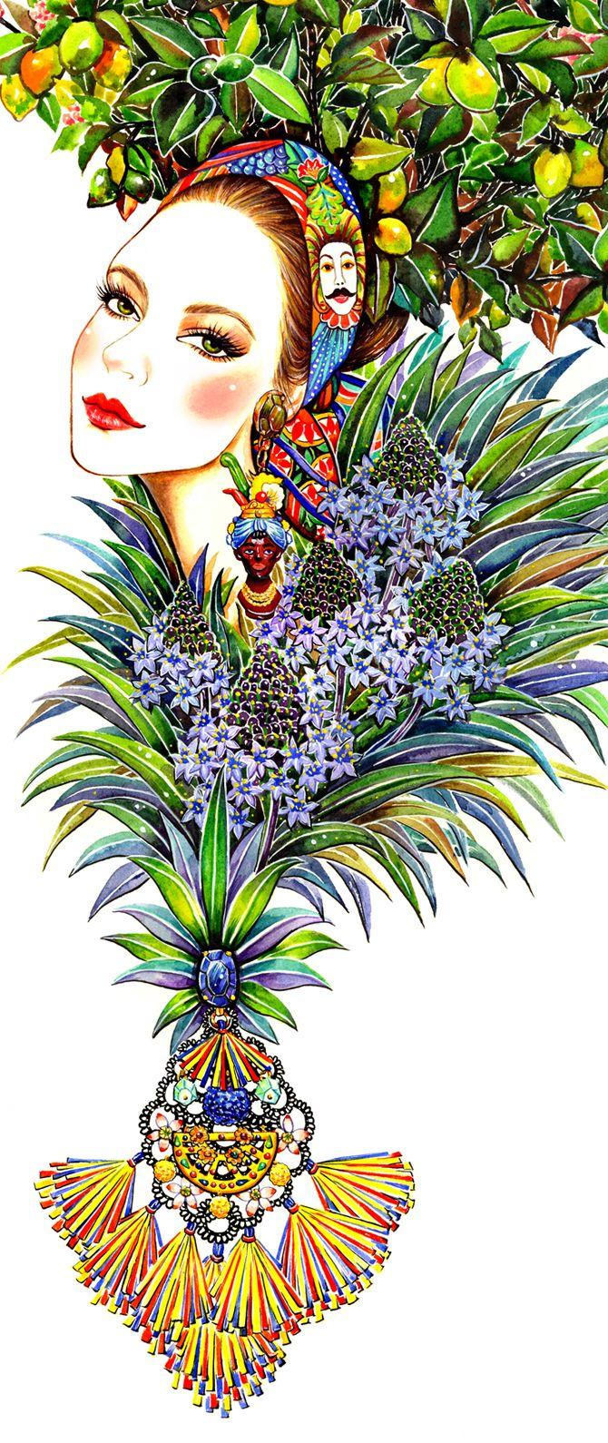 Garden - illustration by Sunny Gu   House of Beccaria~