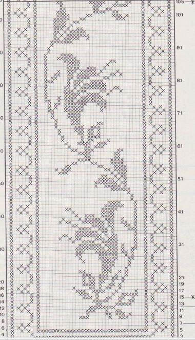 gigli filet e punto croce -schema