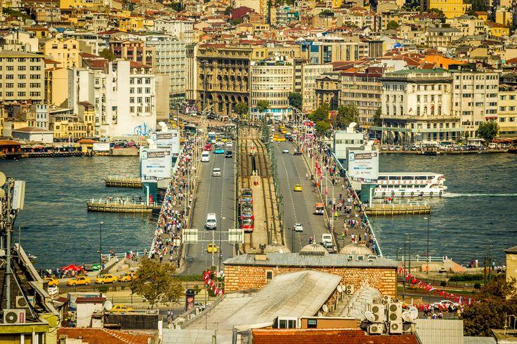 Galata bridge - Galata bridge. Istanbul.