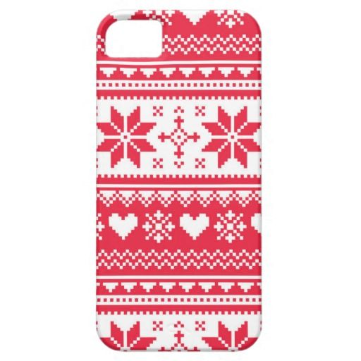 Pixelated Scandinavian pattern with hearts and snowflakes #nordicpattern #christmaspattern