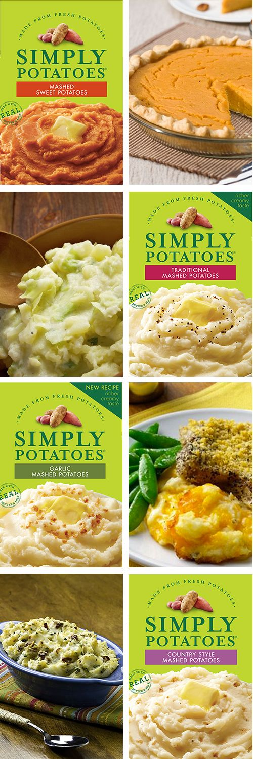 With four different Simply Potatoes® Mashed Potato varieties, the side dish opportunities are endless!