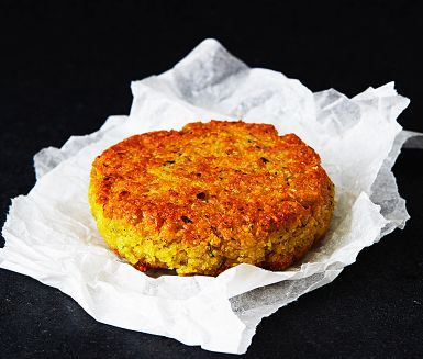 Yellow pea patties
