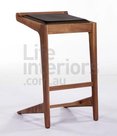 """Hangover"" wooden bar stool www.lifeinteriors.com.au"
