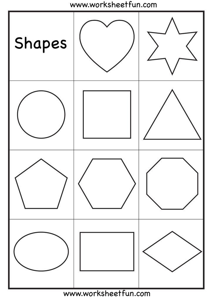 Preschool Shapes Worksheet Crafts & Activities Pinterest