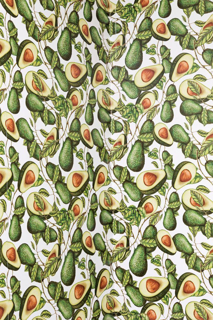 печать обои на телефон с принтом авокадо зону