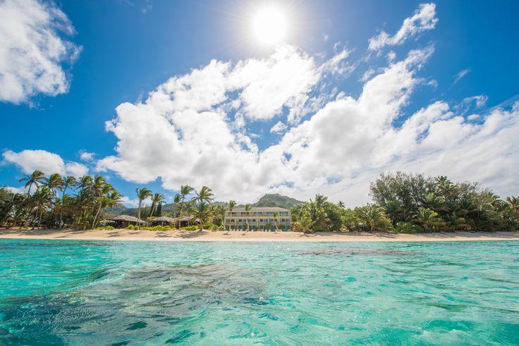 Explore our beautiful beachfront location at Moana Sands Hotel & Villas in Rarotonga, Cook Islands.