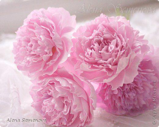 Поделка изделие Свадьба Моделирование конструирование Букет невесты из роз и пионов Фоамиран фом фото 2
