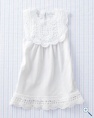 beautiful crocheted pima dress - perfect for summer