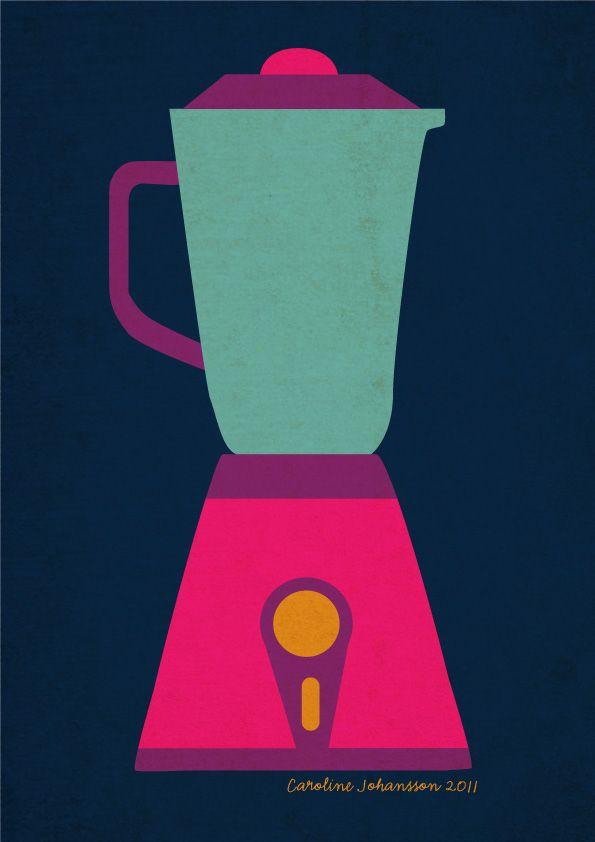 Kitchen Print. simplified
