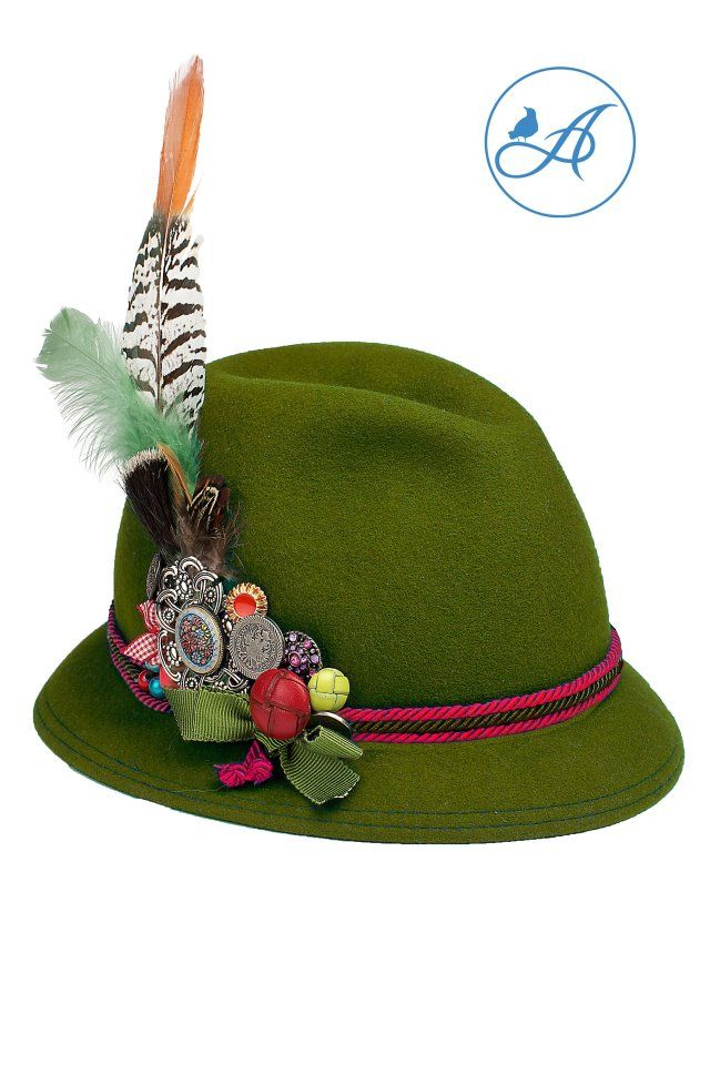 "Beautiful bavarian country hat! please also see us on facebook and give us a ""like""  https://www.facebook.com/amselmode"