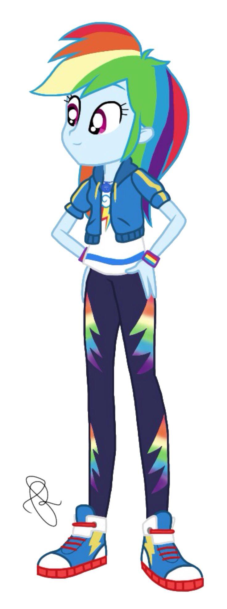 how to draw mlp human rainbow dash