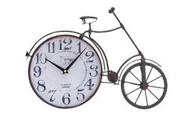 "Woodland 51874  Metal Bicycle Clock 17""W, 12""H"