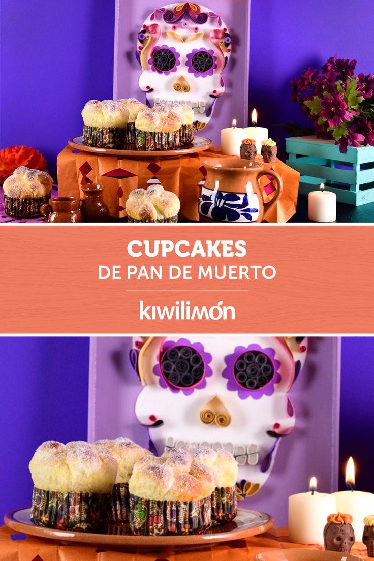 El pan de muerto es tradicional de la panadería mexicana, prepara esta divertida versión que les encantará a tus hijos: unos cupcakes de pan de muerto suaves y esponjosos, con el clásico terminado de mantequilla y azúcar. ¡Será la mejor opción para disfrutar de la temporada de día de muertos! Mexican Bread, Cupcakes, Easy Cooking, Special Day, Mexican Food Recipes, Baked Goods, Recipies, Food And Drink, Yummy Food