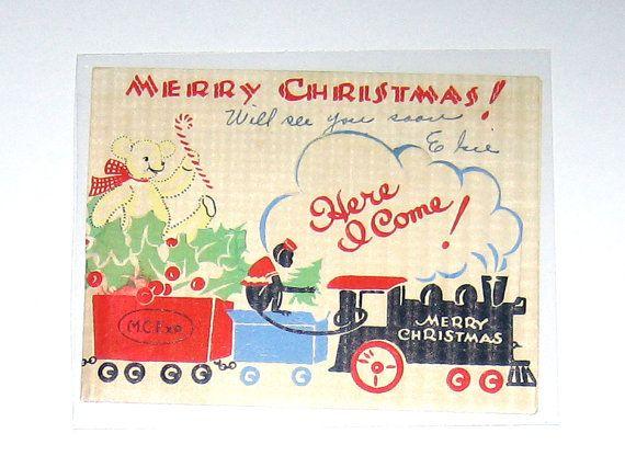 135 best CARDS~Transportation VINTAGE CHRISTMAS images on ...