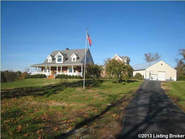 Beautiful country views with this fantastic 1.5 story on almost 5 acres and not in a subdivision in Fisherville.  If you need space, this home has it.  1st floor has an open floor plan between the kitchen with island, dining room, and family room with fireplace.  Walking up to the home, there is a covered front porch almost all the way across the front and goes on the left side as well, by the master bedroom.  In the rear, there is a deck running across the back with a patio below. Hardwood…