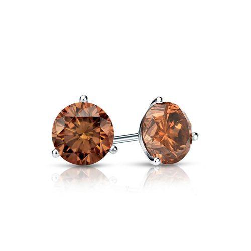 Diamantohrstecker 0.50 Karat Cognac Diamanten 585/14K Weißgold für nur 999 Euro #diamantohrstecker #weissgold #gelbgold #rosegold #cognac_diamanten #schmuck #ohrschmuck #ohrstecker #juwelier #abt #dortmund #karat