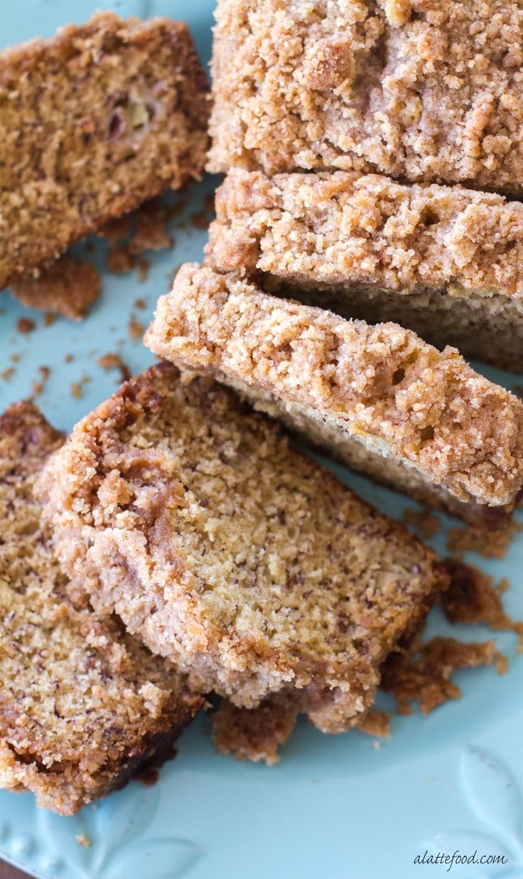 This classic banana bread recipe is topped with a sweet crumb topping making it a cross between a quick bread and coffee cake!  Coffee Cake Banana Bread is sure to be a new favorite!