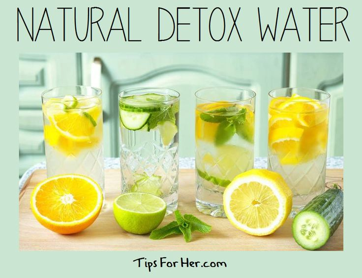 Natural Detox Water - Help to flush impurities out of your system and stay healthy with a natural detox drink.