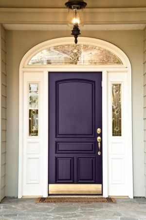 10 Best Front Door Colors by Melaniemilasofia: Eggplants, The Doors, Idea, Front Doors Colors, Purple Front Doors, Front Doors Colour, House, Dark Purple, Purple Doors