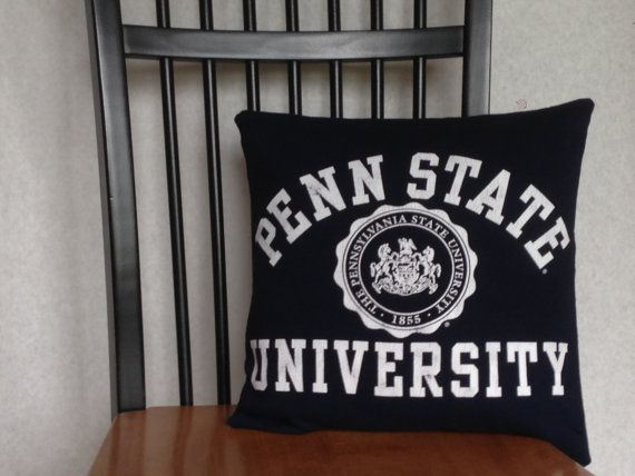 Penn State Recycled TShirt Pillow Cover by CraftAlchemyByDina, $20.00
