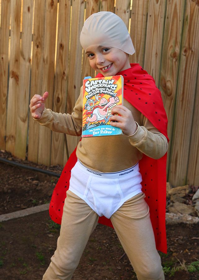 Make a simple Captain Underpants costume for book character day or Halloween for your son. Full supply list and instructions make this costume SO easy.