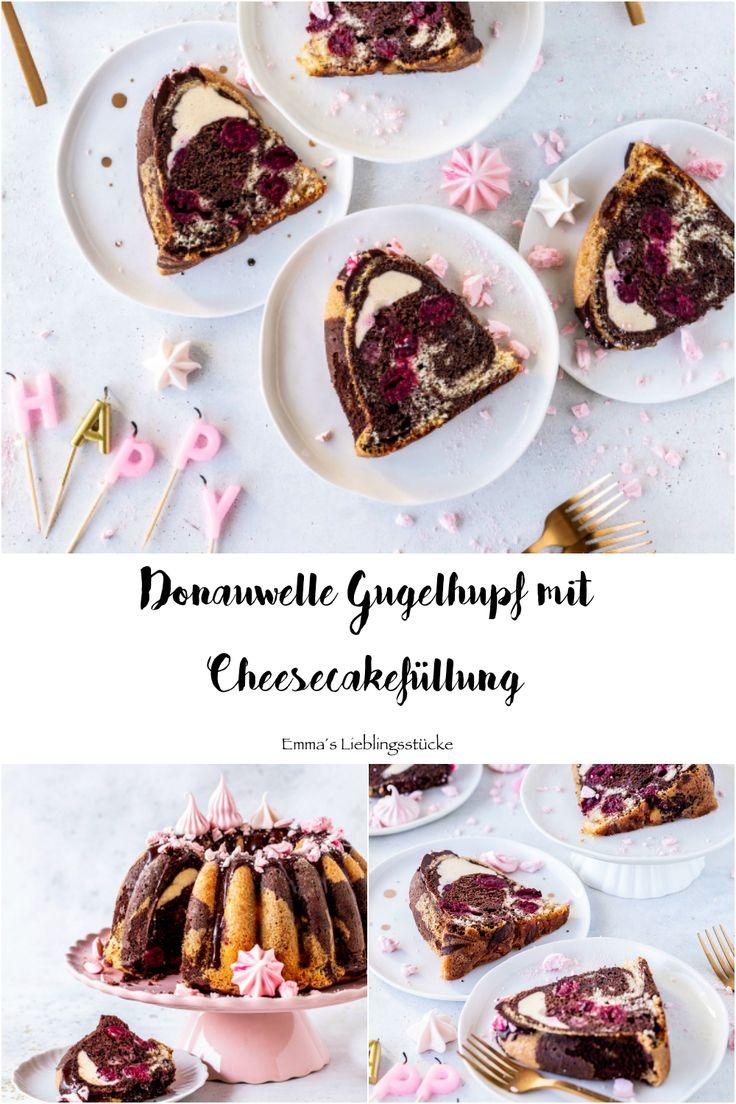 Donauwellen Gugelhupf Rezept mit Chessecake-Füllung Rührkuchen einfach lecker …