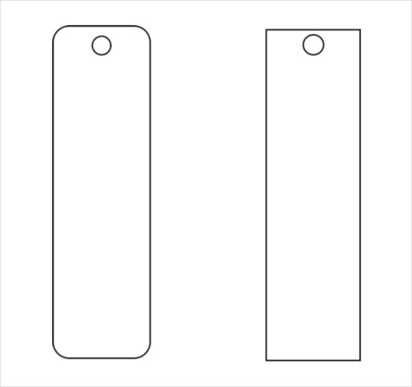 Blank Funeral Bookmark Template Bookmark Template Free