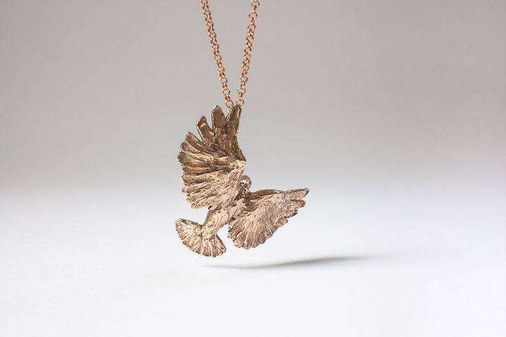 bronze bird by Liplivive on Etsy