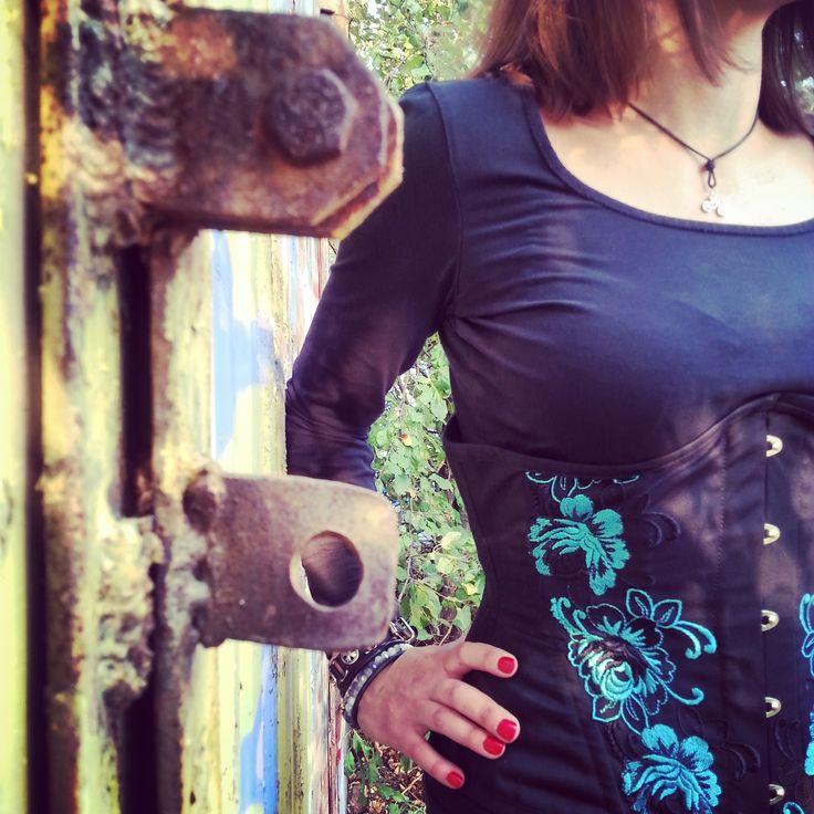 Corset, haft #corset #steampunk