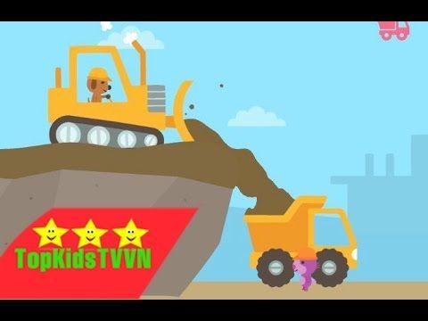 topkidstvvn Máy xúc và xe tải dành cho bé Trucks and diggers