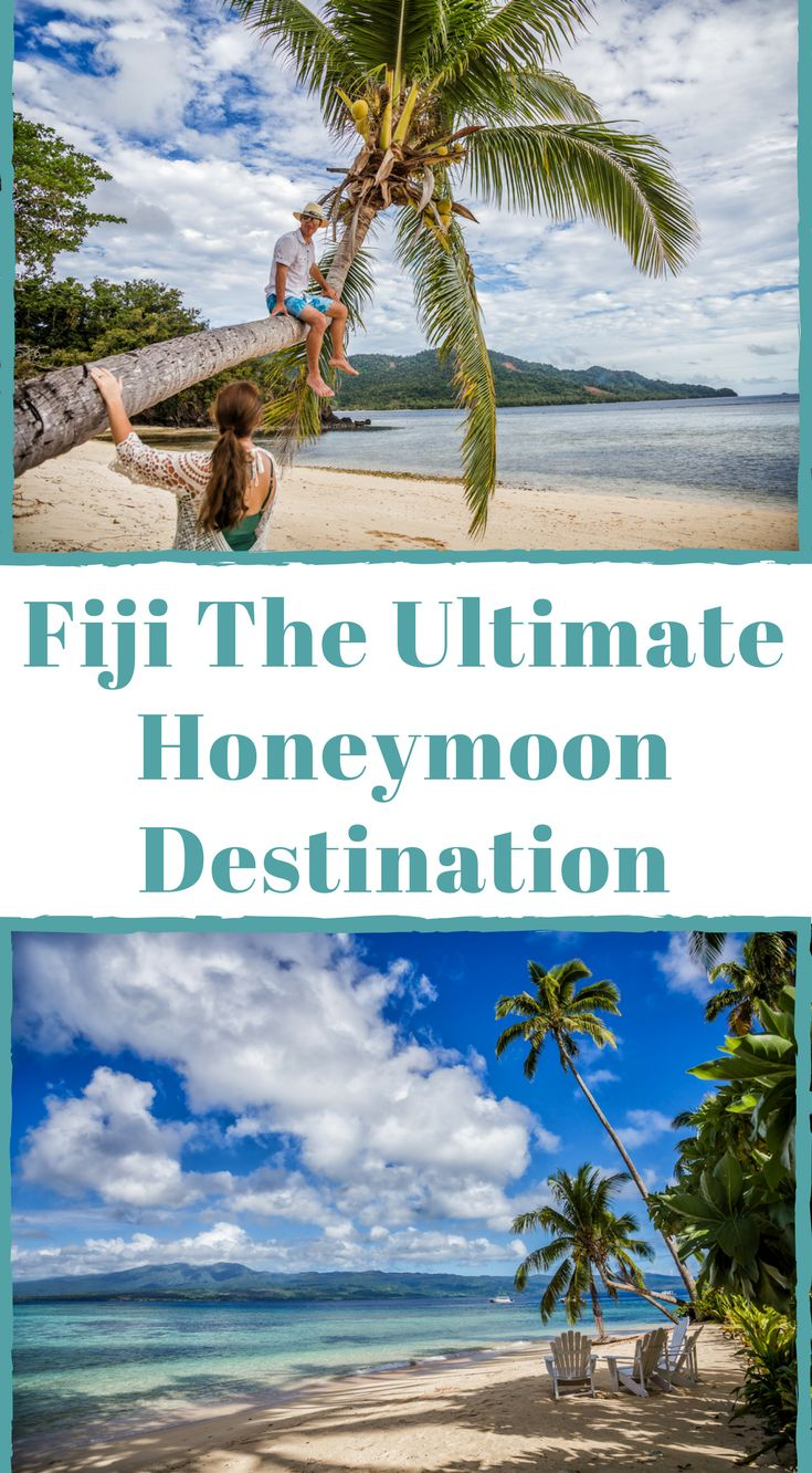 Fiji the ultimate honeymoon destination.  Undeniably, one of the most romantic places on earth, Fiji does it like no other country can. Clear turquoise waters, romantic spectacular sunsets, breathtaking beaches, delightful wining and dining, and plenty of adventure is what you should expect from a honeymoon in Fiji. Click to read Fiji Honeymoon – Romance and Adventure Guide #Fiji #Travel #Guide #Honeymoon #Romantic #romantictraveldestinations
