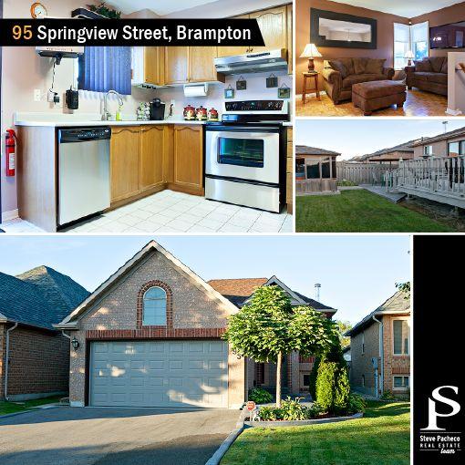 FOR SALE! 95 Springview Street, Brampton. More info: http://bit.ly/1w35CYX