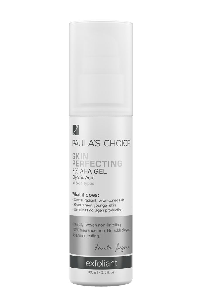 Paula's Choice Skin Perfecting 8% AHA Gel Exfoliant. Skin Concern: Anti-Ageing | Brown Spots | Wrinkles, works best with ph lower than 4