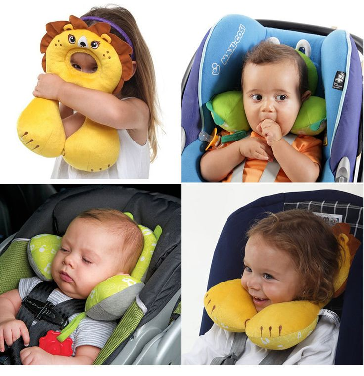 Baby Stroller Car Pillow Travel Head Neck Protection Pillow Safety Kid Headrest Car Seat Travel Cushion Child Sleeping Protector