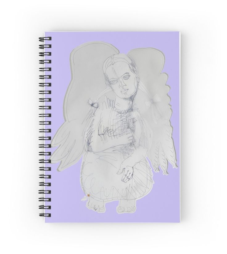The Russian Angel (Original Art Drawing by Alice Iordache) by VanyssaGraphics