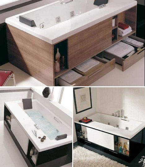 bathtub storage space - Google Search