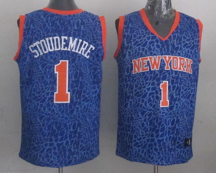 Men's NBA New York Knicks #1 Stoudemire Crazy Light Swingman Blue Jersey