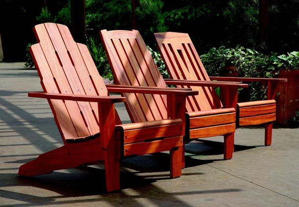 Tim Celeski makes an interesting variety of Adirondack chairs.  These three show influence from the Greene brothers, Gustav Stickley and Charles Limbert.