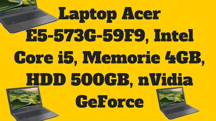 Laptop Acer E5-573G-59F9 Intel Core i5 - Acer E5-573G-59F9