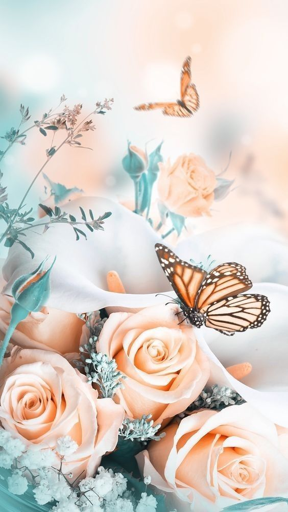 Flower And Butterfly Wallpaper Butterfly Wallpaper Backgrounds Pink Flowers Wallpaper Wallpaper Nature Flowers Coolest fantasy flower wallpaper