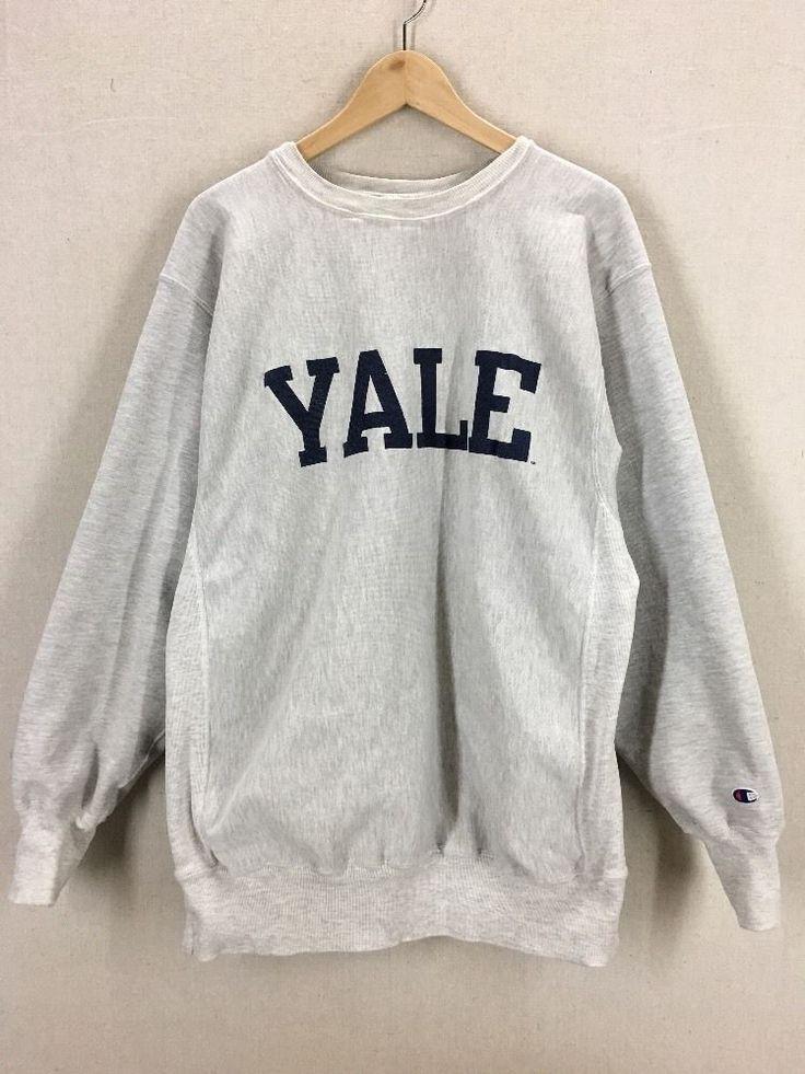 Vintage Yale University Champion Tru-Blend Reverse Weave Crewneck Sweatshirt XXL