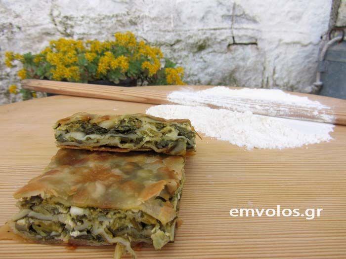 Συνταγή : Χορτοτυρόπιτα με χειροποίητο φύλλο – Αυθεντική ρουμελιώτικη συνταγή του ονείρου